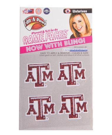 Texas A&M FandazzlerZ Face Stickers Maroon