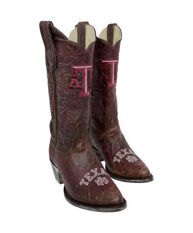 Texas A&M Women`s Gameday Cowboy Boots Brown