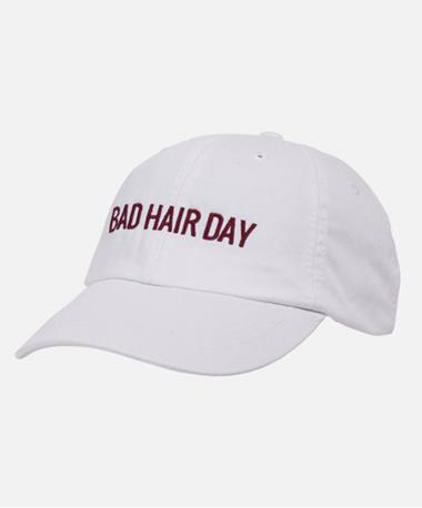 Friday Saturday Bad Hair Day Hat - Front White