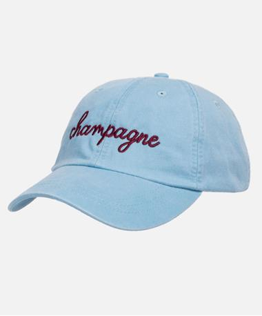 Friday Saturday Champagne Hat - Front Blue