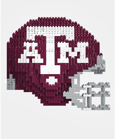 Texas A&M Football Helmet 3D Lego Set Maroon