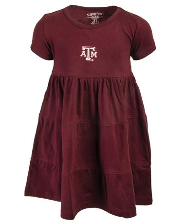 Garb Texas A&M Tod Jasmine Ruffle Dress Maroon