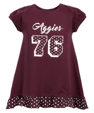 Garb Texas A&M Aggie Zoe Youth Hi-Lo - Front Maroon