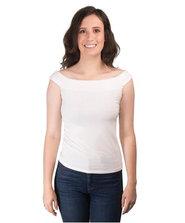 Gentle Fawn Anita Off the Shoulder Top Front White