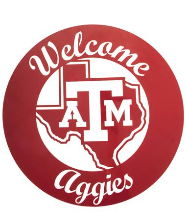 Texas A&M Welcome Aggies 24 Inch Sign Maroon