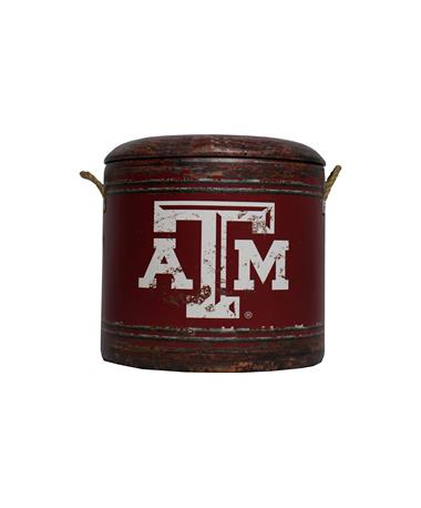 Texas A&M Medium Maroon Ottoman
