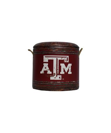 Texas A&M Small Maroon Ottoman