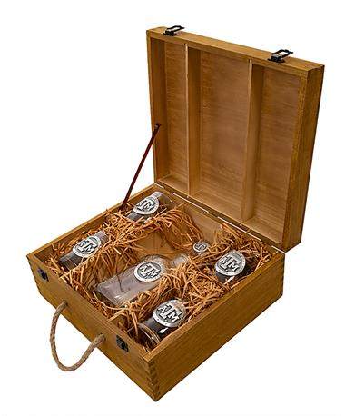 Texas A&M Capitol Decanter Boxed Set - Set in Case Clear