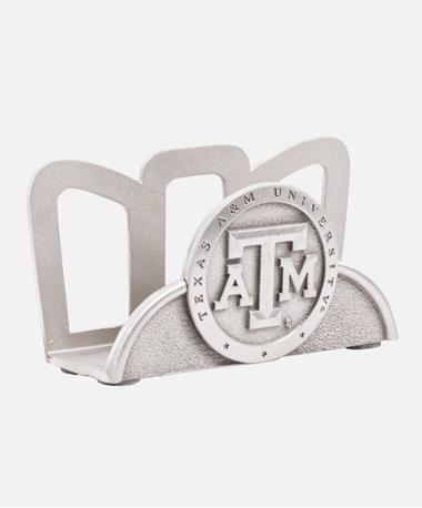 Texas A&M Business Card Holder - Silver Silver
