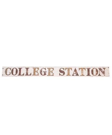 College Station Barn Sign White