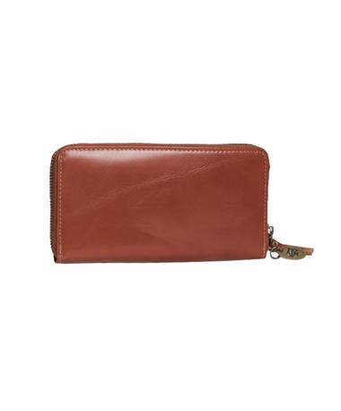 Jack Mason Legacy Zip Clutch with A&M Charm Brown