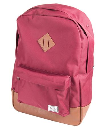 Herschel Heritage Backpack Front Windsor Wine