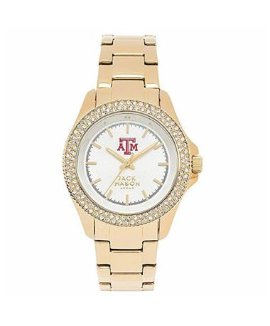 Texas A&M Jack Mason Ladies Gold Glitz Watch Gold