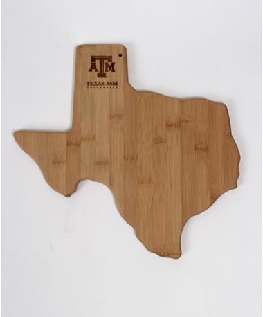 Texas A&M State Cutting Board Natural
