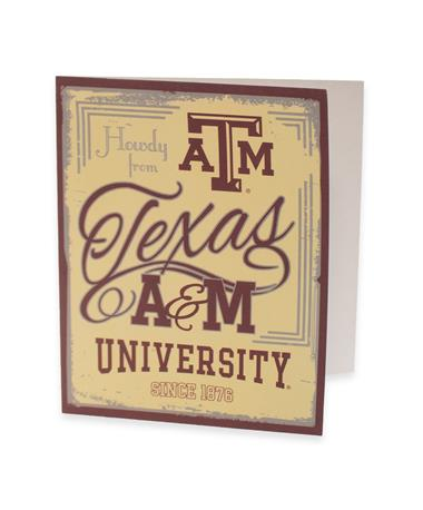 Texas A&M Howdy From Texas A&M Cards - Front Maroon