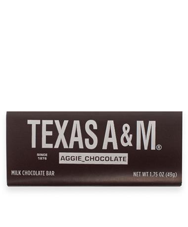 Texas A&M Milk Chocolate Bar - Front Multi