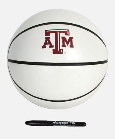 Texas A&M Signature Series Basketball White/Brown