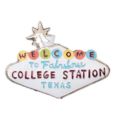 Kitty Keller College Station Ornament White