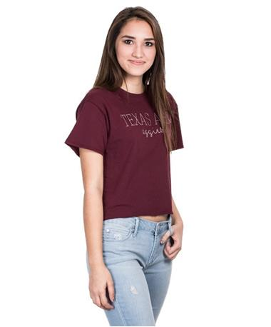 Texas A&M Womens Clothesline Cotton T-Shirt