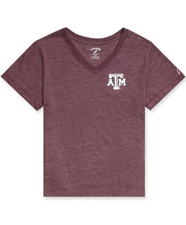 Texas A&M League Women`s Intramural Boyfriend T-Shirt Maroon