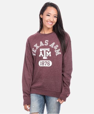 League Texas A&M Heritage Crew Sweatshirt Maroon
