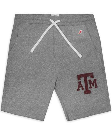 Texas A&M League Fleece-Lined Jogger Shorts - Fall Heather - Front Fall Heather