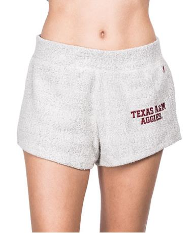 Texas A&M Aggie Womens Jane Shorts - Front Natural