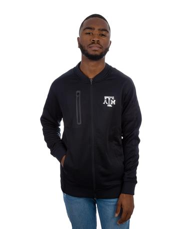 Levelwear Texas A&M Men`s Primo Jacket - Front Black