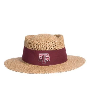 Texas A&M Tournament Straw Gambler Hat Natural
