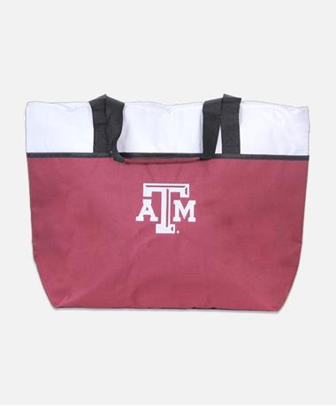 Texas A&M Aggie One-Tripper Cooler Tote - Front Maroon
