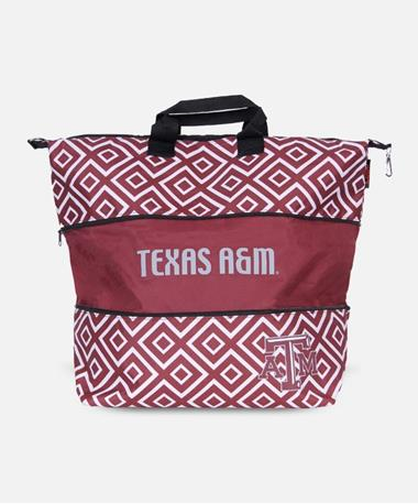 Texas A&M Double Diamond Expandable Tote Maroon