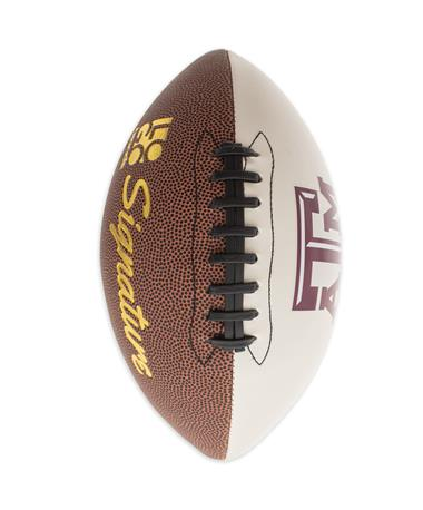 Texas A&M Full Size Autograph Football - Vertical Brown/White