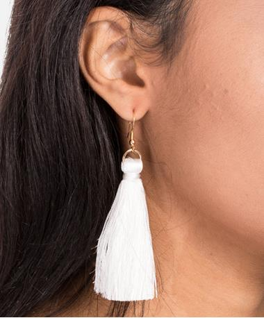 Silky Loopette Earrings - White White