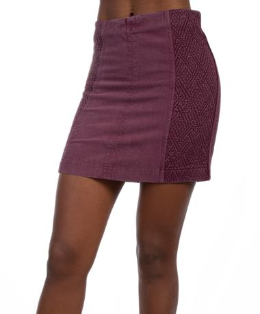Mad Crush Skirt Maroon