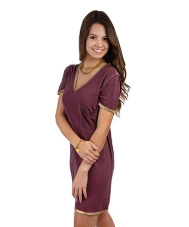Maroon Let it Go Dress - Haley - Side Maroon