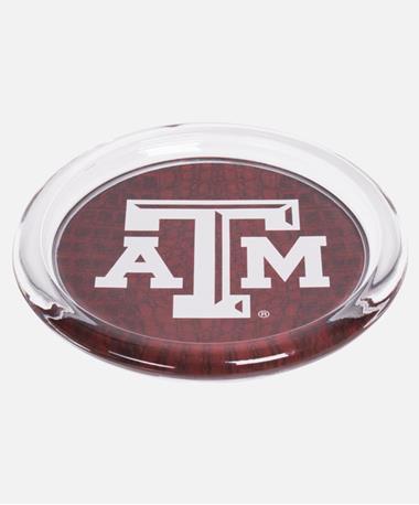 Texas A&M Aggies Maroon Coaster Glass