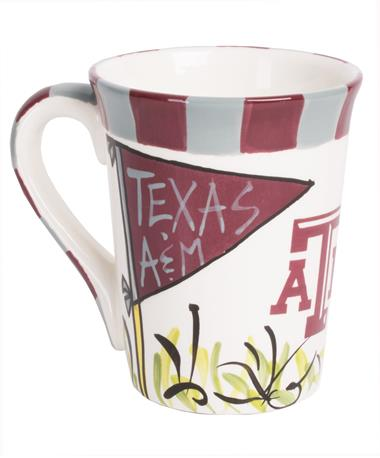 Texas A&M Aggies Pennant Coffee Mug Front White/Maroon