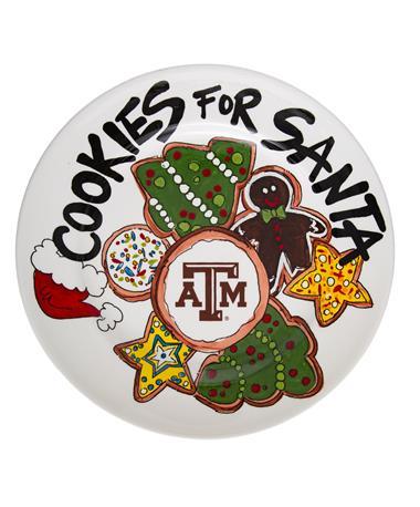 Texas A&M Aggie Cookie Plate White