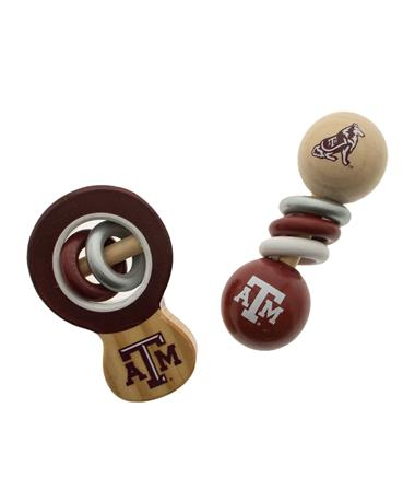 Texas A&M Aggie Baby Rattle Maroon