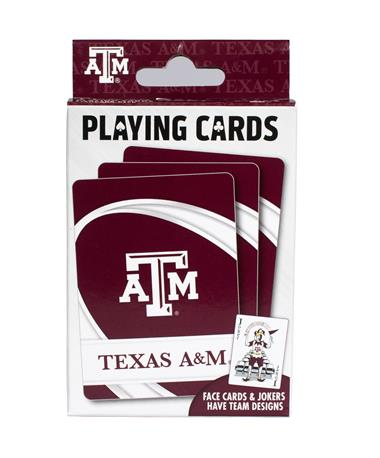 Texas A&M Playing Cards - Packaging - Front Maroon