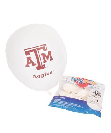 Texas A&M Aggie Latex Balloons White