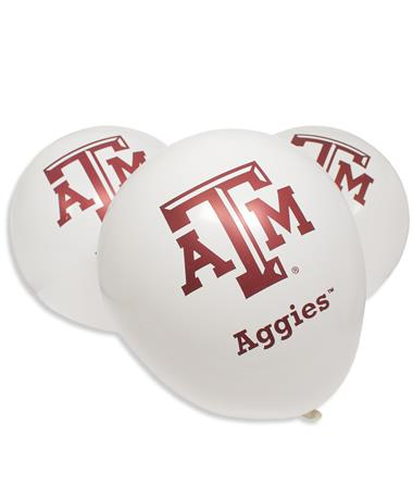 Texas A&M Aggie Latex Balloons White