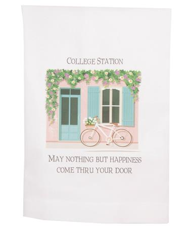 Happiness Thru Door Towel White