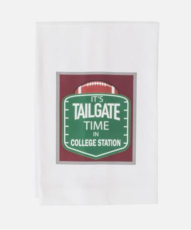 Tailgate Time In College Station Towel White