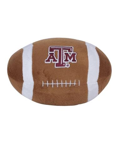 Texas A&M Plush Football with Embroidery Maroon