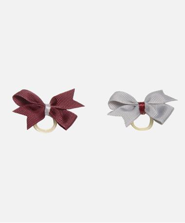 Two Tone Pet Bow Pair Burgundy