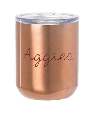 Aggies Viking Lowball Tumbler 10oz Copper