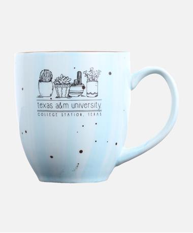 Texas A&M Aggie Crate O Cacti Coffee Mug IceBeRG Blue