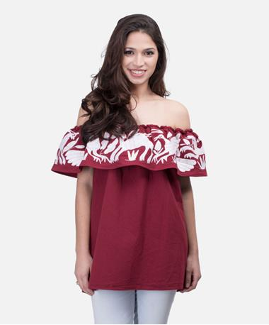 Ade Demi Blouse Maroon