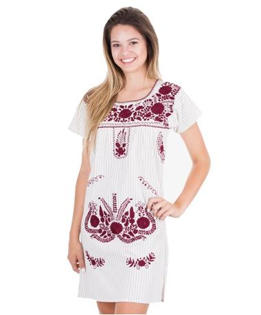Nativa Patterned Mini Puebla Dress - Front Grey